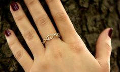DNA Ring - Jewelry - Silver Ring - 3D Printed DNA Ring - Wearable Science - Human Cell - Genetics - DNA
