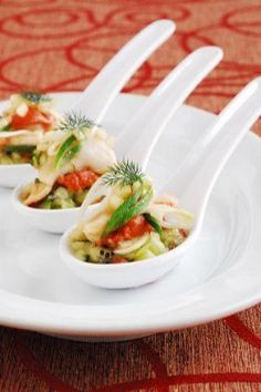 1000 images about chinese spoons on pinterest spoons for Asian canape ideas