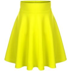 BIADANI Women Versatile Flared Stretch Wide Band Skater Skirts ($9.70) ❤ liked on Polyvore featuring skirts, flared skater skirt, flared hem skirt, yellow circle skirt, flared skirt and stretchy skirts
