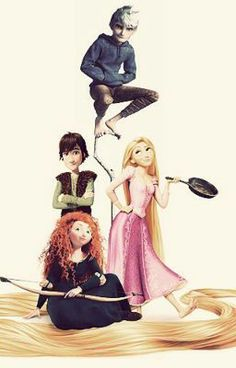 The big four story chapter 5 Disney Crossovers, Disney Movies, Disney Stuff, Disney Art, Jelsa, Jack Frost, Merida And Hiccup, Frozen And Tangled, Rapunzel And Eugene