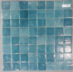 Mosaïque carrelage , vert turquoise mouche 4 cm par plaque - Achat mosaïque carrelage salle de bain