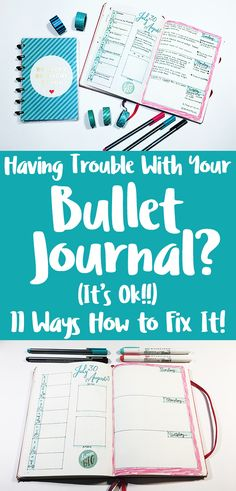 Bullet Journal Tips- Having problems with your bujo? No worries! Learn the most common reasons people struggle with their bullet journal and helpful tips to overcome them. Bullet Journal Tracker, Bullet Journal Hacks, Bullet Journal Layout, Bullet Journal Inspiration, Bullet Journals, Bullet Journal Reference Guide, Bullet Journal For Beginners, Bullet Journal How To Start A, Bullet Journal For Teachers