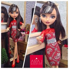 Ever After Doll Wonder-iffic Red Dress by Aral Ghostier