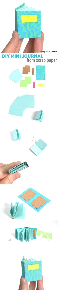 DIY mini journal from scrap paper - 5 minute craft tutorial