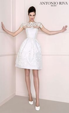 Featured Short Wedding Dress: Antonio Riva; www.antonioriva.com