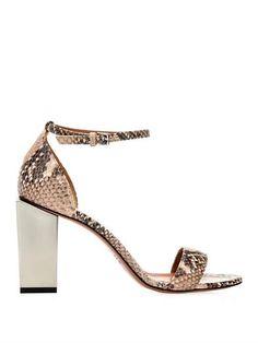 Snake-effect leather block sandals | Sportmax | MATCHESFASHION...