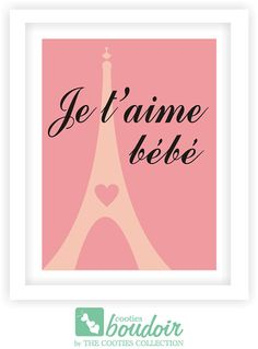 What girl doesn't dream of going to Paris? This print is perfect for a baby girl's nursery or a little girl's bedroom