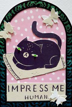 Impress me human (print) - artwork by Rita Dabrowicz