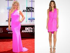 Make a statement this summer in a hot pink dress.