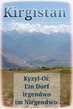 Kirgistan: Kyzyl-Oi, ein Dorf auf dem Weg von Kochkor nach Osch.