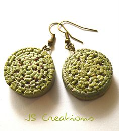 extruded polymer clay earrings   JS Creations - Ioana S   Flickr