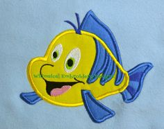 Applique Flouundr  Fish Machine Embroidery by WhimsicalEmbroidery, $4.00