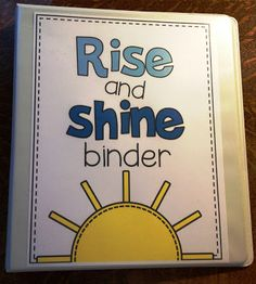 Rise and Shine Binder- An interactive way to do morning work!