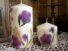 Zdobenie sviečok sušenými kvetmi | DIY návod na ručne zdobené sviečky