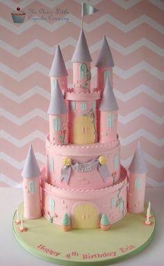 Ptincess Castle Cake
