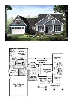 Best Selling House Plan 55603 | Total Living Area: 1637 SQ FT, 3 bedrooms and 2 bathrooms. #bestselling