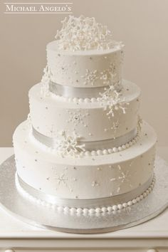 Wintery Wedding #23Specialty  This cake is perfect for the winter bliss wedding…