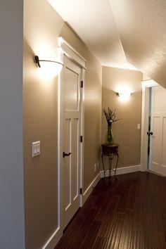 Interior doors pre finished white five panel door with dark trim interior doors white molded interior doors with dark flooring and light colored walls bayer planetlyrics Gallery