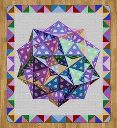 """[Tom Pensyl's Polyhedron Quilt] """"Piece of Hyperspace"""" Quilt Pattern"""
