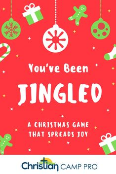 "You've Been Jingled: A Christmas Game that Spreads Joy - Christian Camp Pro You've no doubt heard of the ""You've been elfed"" Christmas game. Well, the ""You've Been Jingled"" game serves as a great alternative and spreads joy too! Christmas Gift Exchange Games, Fun Christmas Games, Christmas Jingles, Christmas Activities, Holiday Fun, Christmas Ideas, Xmas Games, Merry Christmas, Christmas Things"