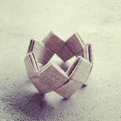Fabric  origami bracelet by Psoesaie on Etsy, €10.00