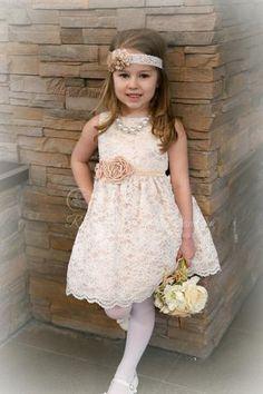 Western Lace Flower Girl Dresses
