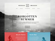 Words & Images – Photography/Poetry Website Concept