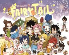Fairy tail 10 anniversary by rboz! Fairy Tail Love, Fairy Tail Manga, Fairy Tail Amour, Arte Fairy Tail, Fairy Tail Funny, Fairy Tale Anime, Fairy Tail Guild, Fairy Tail Ships, Fairy Tales