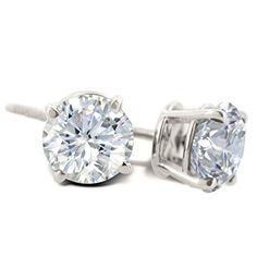 IGI Certified 14K White Gold Round Diamond Stud Earrings (1cttw) with Screw Backs SuperJeweler http://www.amazon.com/dp/B00OBKTWHC/ref=cm_sw_r_pi_dp_mcMCub1797Z18