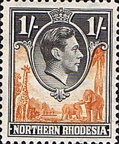 Northern Rhodesia 1938 Animals SG 40 Fine Mint SG 40 Scott 40 Other British Commonwealth Empire and Colonial stamps Here