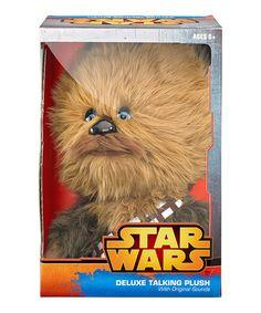 Look what I found on #zulily! 15'' Star Wars Chewbacca Deluxe Talking Plush #zulilyfinds