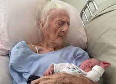 100 Jahre Leben trennen diese beiden Menschen. (Screenshot: Facebook/lifeofdad)