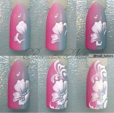 MK materials for nails gel polish IBX Ulan-Ud Uñas decoradas Nail Art Diy, Cool Nail Art, Diy Nails, Cute Nails, Pretty Nails, Spring Nails, Summer Nails, One Stroke Nails, Nagel Blog