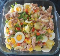 Essa saladinha parece ótima!  Salada Russa