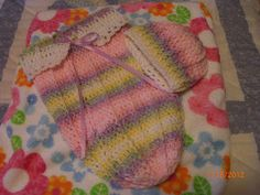 Preemie Hat Project: Varigated Cuddle Sac for Preemies