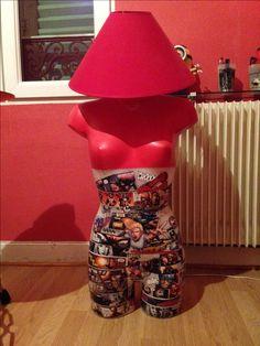 creation d'une lampe buste super hero marvel