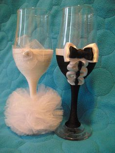 wedding glasses by Ginartizanat on Etsy