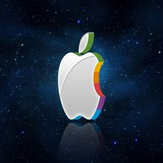 3D Apple logo - iPad Wallpaper