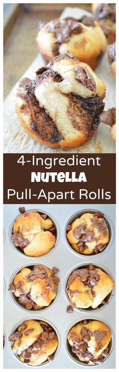 Nutella Pull-Apart Rolls – 4-ingredient, buttery, fluffy pull-apart rolls!