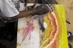 徒手畫畫的男子 任何工具都相形失色 | 鍵盤大檸檬