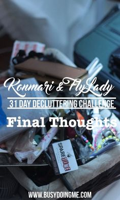 NEW POST: 31 Day Declutter Challenge Final Thoughts