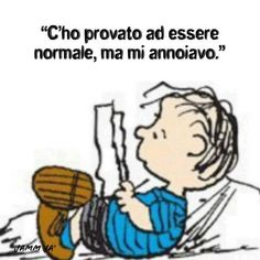 """Schulz on Linus: """"Linus didn't come along for several years. Italian Memes, Italian Quotes, Peanuts Cartoon, Peanuts Snoopy, Learn To Speak Italian, Snoopy Love, Charlie Brown And Snoopy, Learning Italian, Comic Character"""
