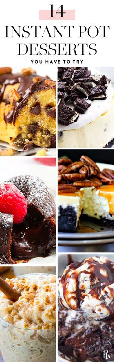 14 Instant Pot Desserts You Have to Try