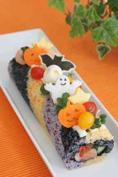 ハロウイン ロール寿司の画像