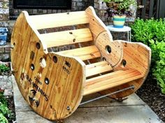 Wooden spool rocker