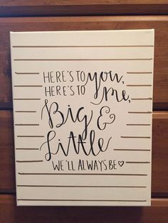 Here's To You Big Little Sorority Canvas by sratcratfz on Etsy: