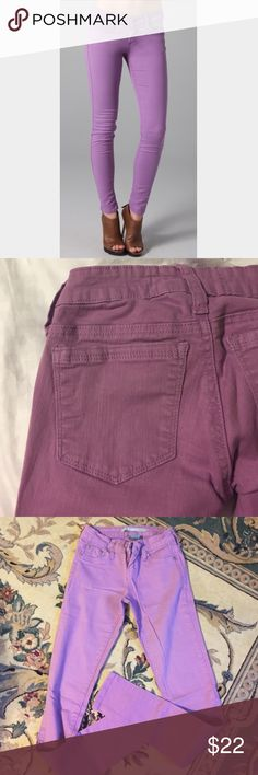 Purple Skinny Jeans - Tractr Brand 96% cotton, 4% spandex, so they are stretchy! Lightly worn 👍🏼 Tractr Pants Skinny