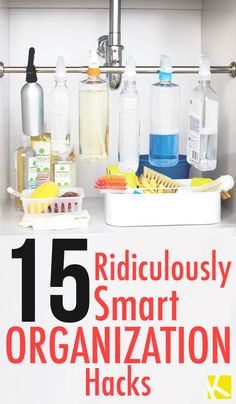 15 Ridiculously Smart Organization Hacks - The Krazy Coupon Lady
