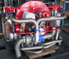 300HP turbocharged air-cooled horizontally opposed 4 cylinder VW engine [960x832]