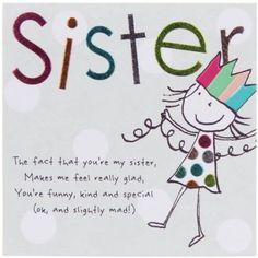 Tinklers SISTER Birthday Card  